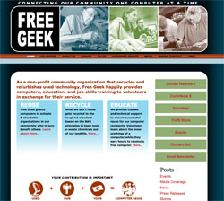 FreeGeek Wordpress Website Portfolio Item