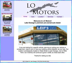 LO Motors Website Portfolio Item